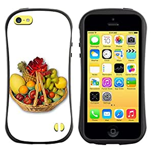 Pulsar iFace Series Tpu silicona Carcasa Funda Case para Apple iPhone 5C , Fruit Macro Fruit Basket