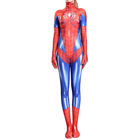 QQWE Traje De Cosplay De Spiderman para Mujer, Niños, Juego ...