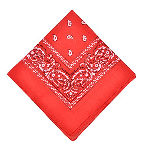 6 Pack Cotton Bandanas Set Cotton Headband Bandana for Daily Use,Red ()