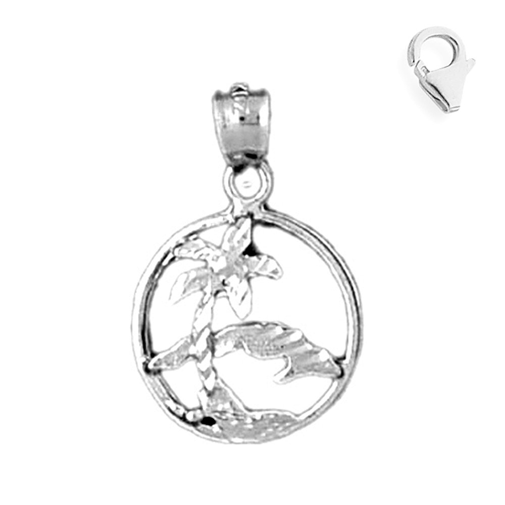 Jewels Obsession Cuba Pendant Sterling Silver 23mm Cuba with 7.5 Charm Bracelet