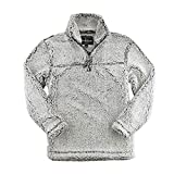 Boxercraft Adult Super Soft 1/4 Zip Sherpa Pullover-Smokey Grey-large