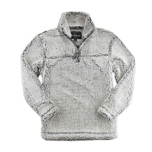 Half Fleece Pullover Zip - Boxercraft Adult Super Soft 1/4 Zip Sherpa Pullover-Smokey Grey-medium