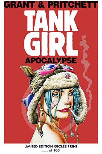 RARE POSTER thick graphic novel TANK GIRL APOCALYPSE comic REPRINT #'d/100!! 12x18