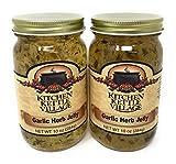 Kitchen Kettle Village Garlic Herb Jelly, Kitchen Kettle Village (Amish Made), 10 Oz. Jars (Pack of 2)