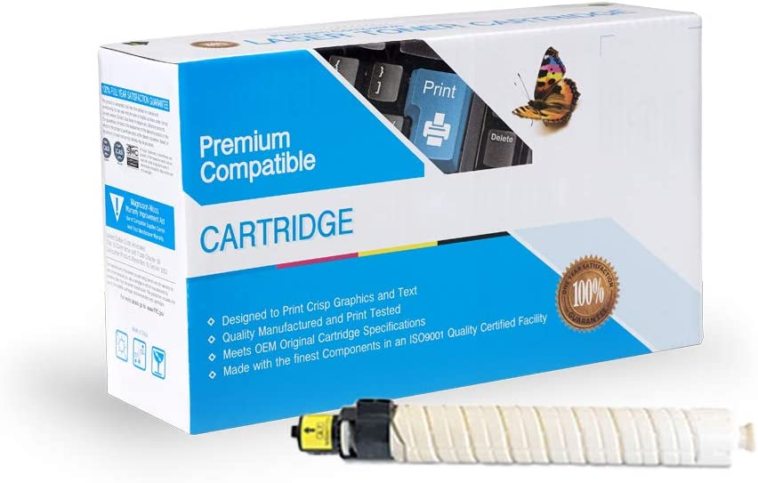 Works with: Aficio MP C4501 MP C5501 Yellow On-Site Laser Compatible Toner Replacement for Ricoh 841453