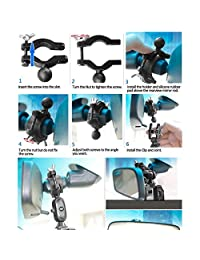 AccessoryBasics Detector de radar de espejo retrovisor de auto para Escort Passport Max   Max2   Max 2   Max II   Max360 (NO compatible con el radar de base magnética MAX360C)