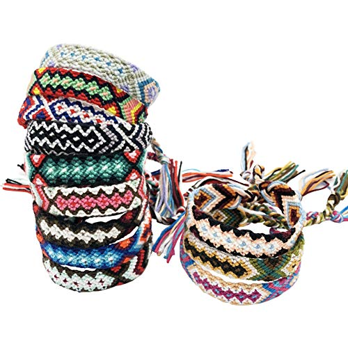 - Rimobul Nepal Woven Friendship Bracelets - 12 Pack (Winter Collection)