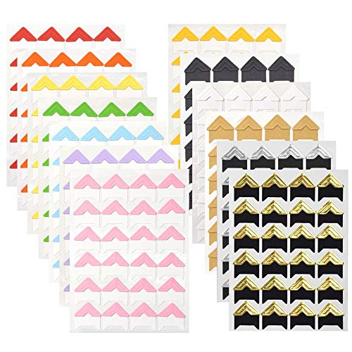 WXJ13 13 Sheets 13 Colors Photo Mounting Corners Photo Corners Self Adhesive for DIY Scrapbooking, Picture Album -