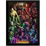 Quadro Marvel Vingadores Ultimato Arte Poster Moldurado