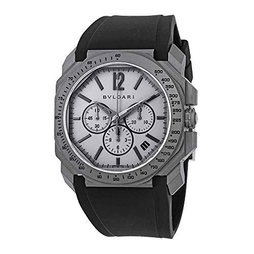 (Bvlgari Octo Velocissimo Chronograph Automatic Grey Dial Men's Watch 102859)