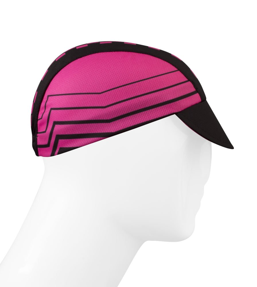 Pink Checkers Cycling Cap - Made in the USA by Aero Tech Designs (Image #1)