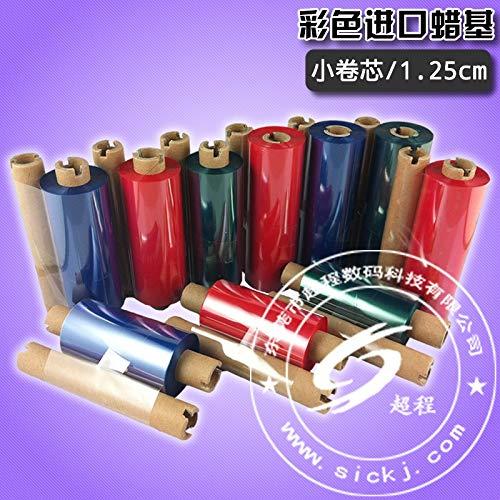 Printer Parts Multicolour Ribbon Thermal Transfer Ribbon red Blue Green 110 90 Wax Ribbon ()