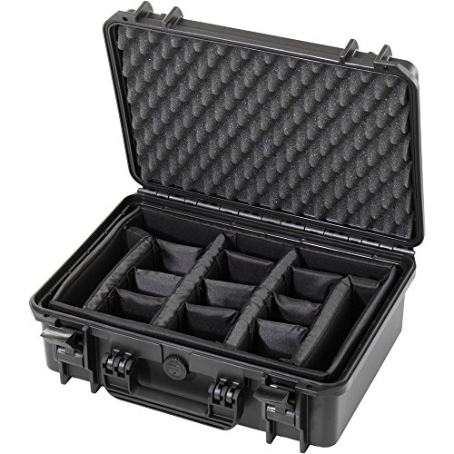 Waterproof Large Protective Hard Camera Case with Padded Moveable Foam Planks & Padded Strap- IP67 Rated Dustproof…