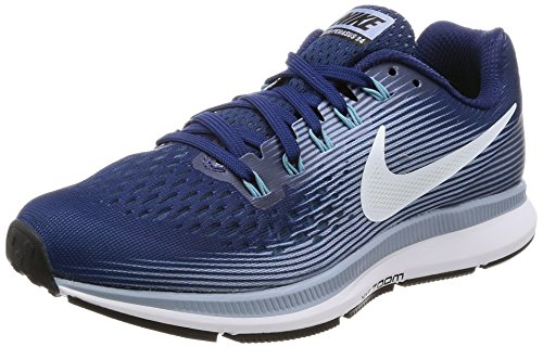 Running Air Nike white glacier Bleu Grey Femme Pegasus 34 binary Blue cerulean Zoom wgI6xIdq