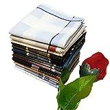 COCOUSM Mens Cotton Handkerchiefs Hankies Mix Pack