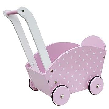Amazon.es: JaBaDaBaDo - Muñeca carro de madera color rosa: Juguetes y juegos