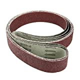 uxcell 2-Inch x 72-Inch 36 Grit Lapped Joint Aluminum Oxide Sanding Belt 4pcs