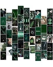 N\C 50 Stks Donkergroen Academia Esthetische Muur Collage Kit voor Kamer Decor Slaapkamer Foto Art Pictures Poster voor Kid& Jongen Tieners