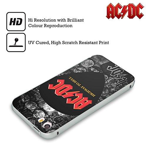 Officiel AC/DC ACDC Épingles De Bouton Logo Argent Étui Coque Aluminium Bumper Slider pour Apple iPhone 5 / 5s / SE