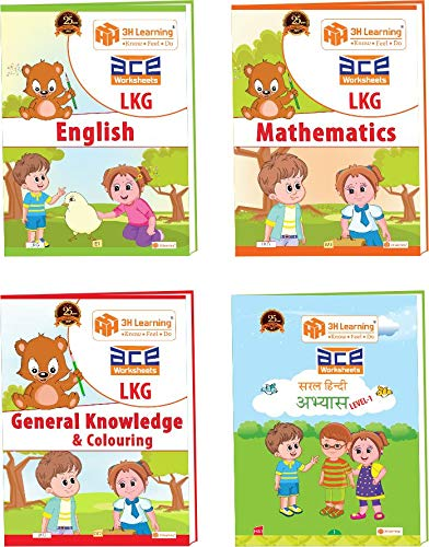 ACE LKG 320 Pages All-in-One Gold Combo Early learning Worksheets for Kindergarten, Nursery Kids, Toddlers, Pre Schoolers [English, Hindi, Mathematics, General Knowledge (EVS) & Coloring] Gift Bundle (B072888H5V) Amazon Price History, Amazon Price Tracker