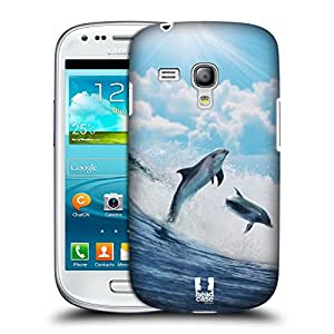 Head Case Designs Happy Surfing Dolphins Wildlife Protective Snap-on Hard Back Case Cover for Samsung Galaxy S3 III mini I8190