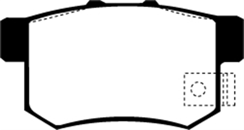 EBC REDSTUFF CERAMIC PERFORMANCE BRAKE PADS DP31610C FRONT