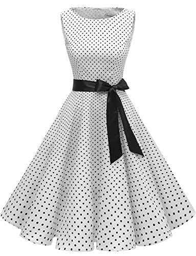 Gardenwed Women's Audrey Hepburn Rockabilly Vintage Dress 1950s