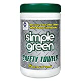 Simple Green 13351 Safety Towels, 10 x 11 3/4, 75 per Canister