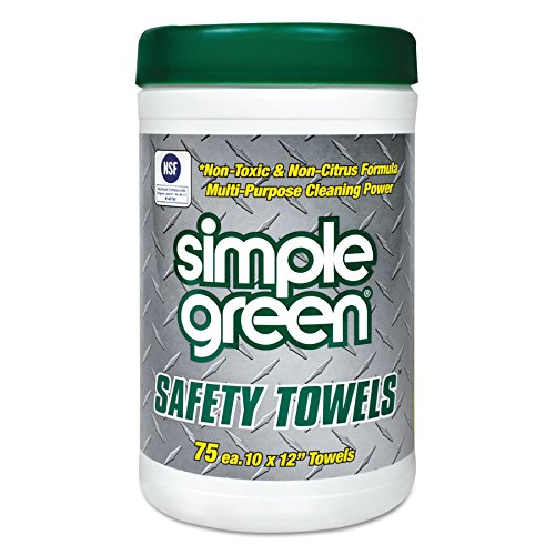 Simple Green 13351 Safety Towels, 10 x 11 3/4, 75 per Canister from Simple Green
