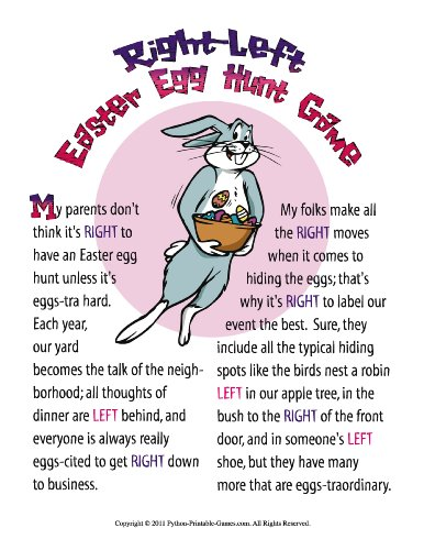 photograph relating to Free Printable Left Right Christmas Game named Printable Easter Bunny Remaining-Instantly Reward Swap Sport Activity for Mac [Obtain]