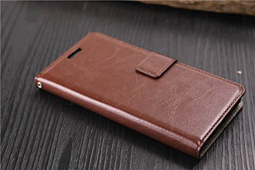 D kandy Vintage Stylish PU Leather FLIP Wallet Cover Back CASE for Sony Xperia C4   Brown