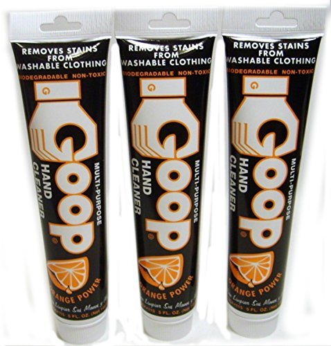 Goop Orange Power Multi-purpose Hand Cleaner Biodegradable Non-toxic 5 Fl Oz Tubes (3-pack) - Cleanser Tube