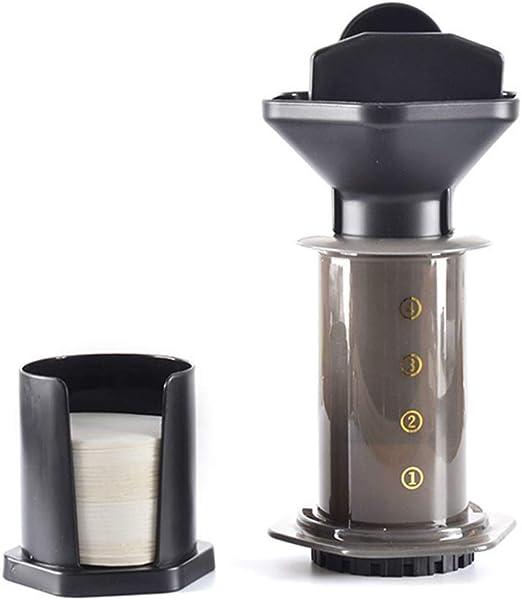 COKFEB Filtro de café Cafetera portátil con Filtro de presión Manual de 250 ml, Olla Francesa