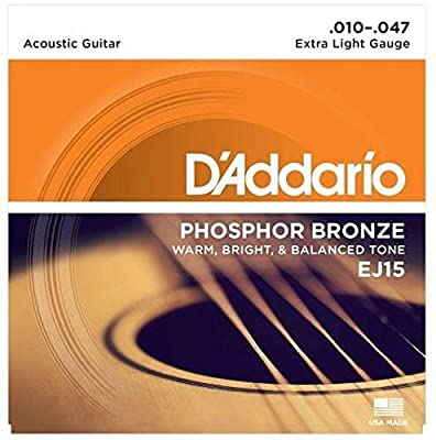D'Addario EJ15 Phosphor Bronze Acoustic Guitar Strings from D'Addario