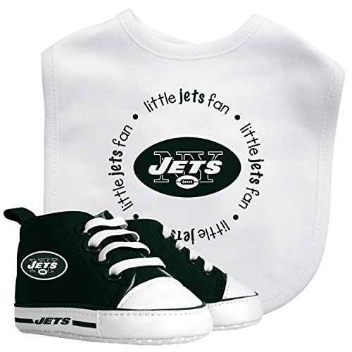 (Baby Fanatic Bib with Pre-Walker, New York Jets )