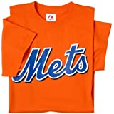 New York Mets (ADULT XL) 100% Cotton Crewneck MLB Officially Licensed Majestic Major League Baseball Replica T-Shirt Jersey