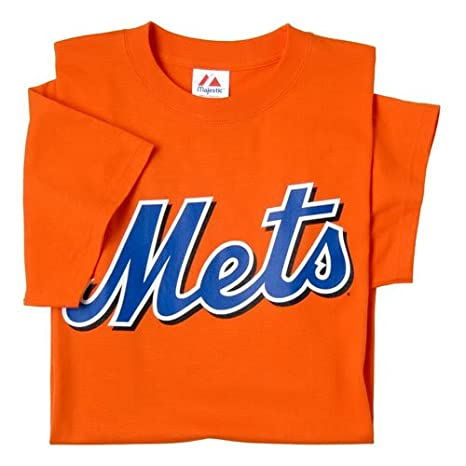 reputable site 9a355 361b4 New York Mets (ADULT XL) 100% Cotton Crewneck MLB Officially Licensed  Majestic Major League Baseball Replica T-Shirt Jersey