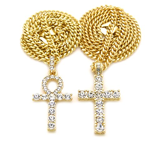 Fashion 21 Egyptian Iced Out Ankh, Cross Pendant 20