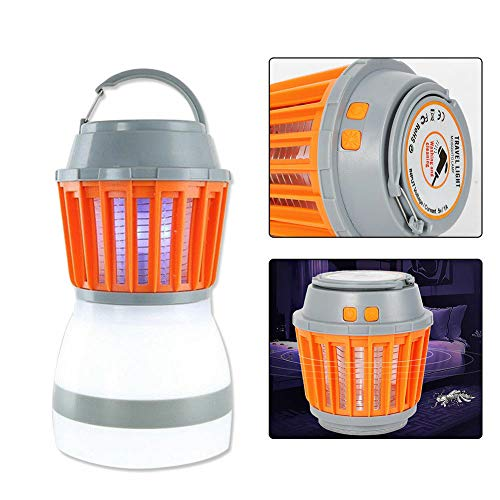 TBvechi Mosquito Killer Lamp 2 in 1 LED Waterproof Tent Light Mosquito Killer Camping Lantern Mosquito Killer Lamp Outdoor Mosquito Killer (Bar Lightwave 4)