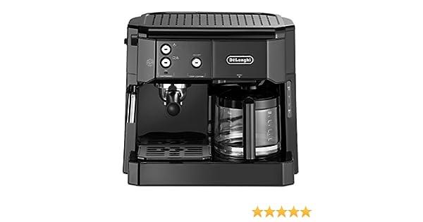 DeLonghi BCO 411.B Cafetera combinada, independiente, totalmente automática, 1750 W, 1L, Acero inoxidable, Negro: Amazon.es: Hogar