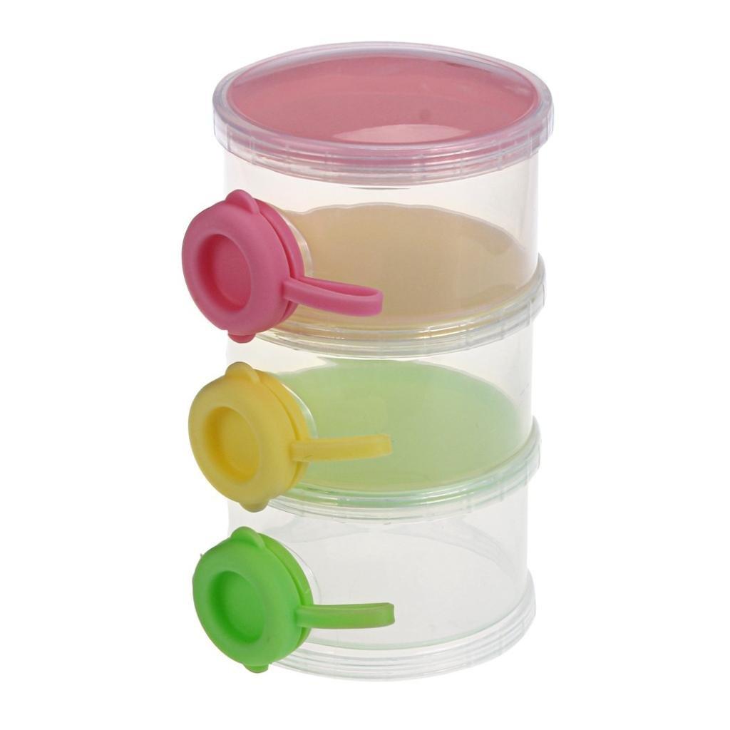 Susenstone 3 Layers Portable Infant Baby Milk Powder Dispenser Case Box Container Susenstone_1336