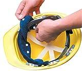 6PCK-Snap-On Hard Hat Sweatband - BEST SELLER - Beat the Heat - BLUE
