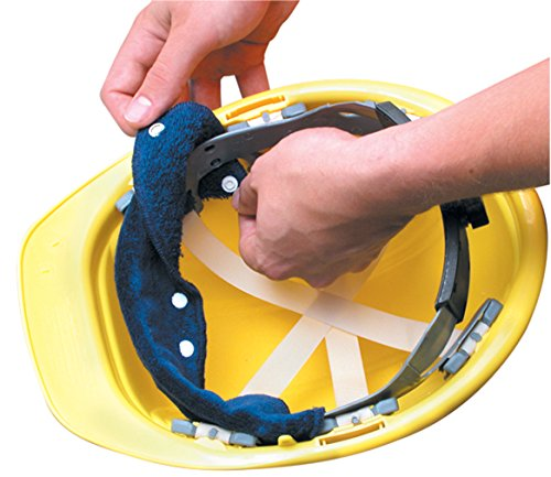3PCK-Snap-On Hard Hat Sweatband - BEST SELLER - Beat the Heat - BLUE