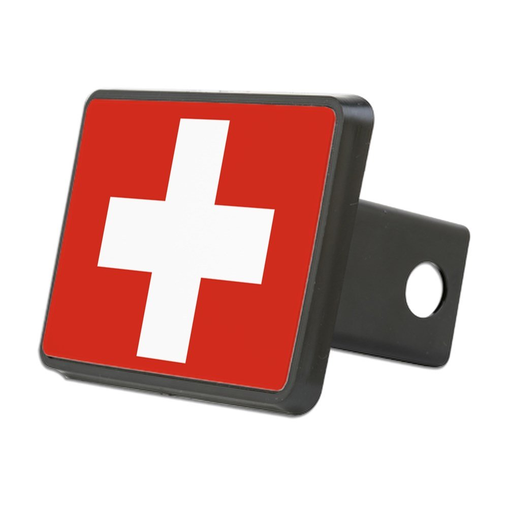CafePress - Flag of Switzerland - Trailer Hitch Cover, Truck Receiver Hitch Plug Insert by CafePress