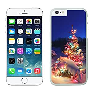 Diy Christmas Tree With Colorful Light White Apple Iphone Cases For Iphone 6 4.7 Inch