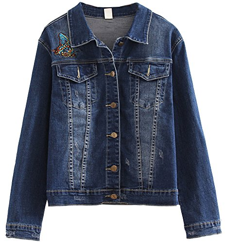 Co Embroidered Denim Jacket - 1