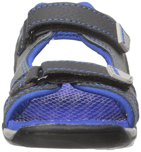 pediped Jungen Navigator Sport-& Outdoor Sandalen Blau (Black King Blau)