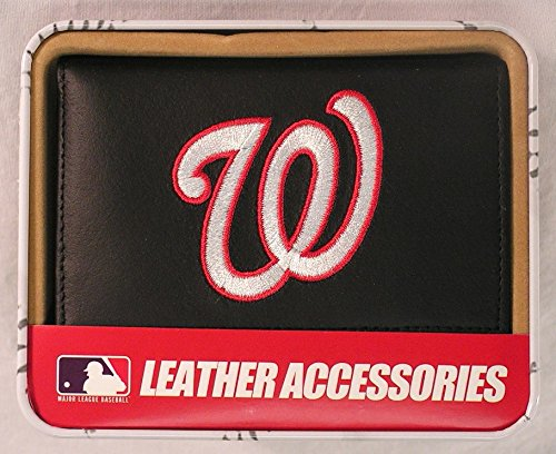 MLB Washington Nationals Embroidered Genuine Cowhide Leather Trifold Wallet