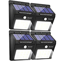 BAXIA TECHNOLOGY LED Solar Lights, Wireless Waterproof Outdoor Motion Sensor Security Night Lights for Outside Wall, Garden,Driveway, Steps, Patio