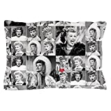 CafePress - I Love Lucy Face Collage - Standard Size Pillow Case, 20''x30'' Pillow Cover, Unique Pillow Slip